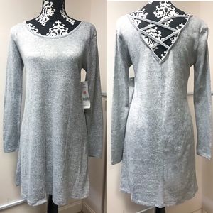 Super Soft Sweater Dress with Cris Cross Back